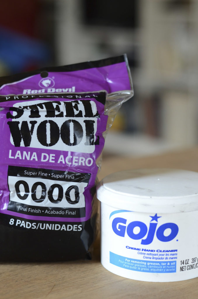 gojo, 0000 steel wool, restoring a finish, Howard's Restore-a-Finish, furniture restoration