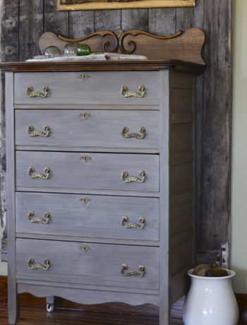 milk paint wash gray dresser refinishing hardware techniques