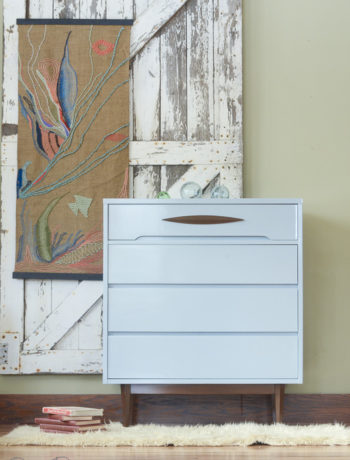 blue lacquered dresser